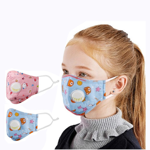 Children with Breathing Valve Cotton Insert Mask pm2.5 Anti-smog Activated Carbon Protective Masks