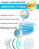 30 Disposable Three-layer Blue Mask and 30 Disposable 4-layer Black Mask,Anti Dust and Air Pollution, Breathable