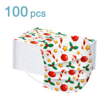 3 Ply Non-Woven, 100 Pcs Disposable Face Bandanas with Cartoons Pattern, Breathable and Anti-Haze Dust, for Children Students Outdoor Back to School Supplies