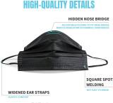 Msaaex 50 Pcs Disposable 4-ply Non-woven Face Mask, BlackMasks
