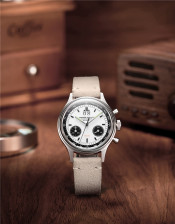 PIERRE PAULIN Vintage Panda German Watch 38MM Style Chronograph Mechanical Men's Watch Big Date Luxury Dress Mechanical