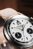 PIERRE PAULIN Vintage Panda German Watch 38MM Style Chronograph Mechanical Men's Watch Big Date Luxury Dress Mechanical