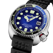 MERKUR OCEANMASTER Sapphire Ceramic Bezel Automatic Dive Mens Watch Turtle