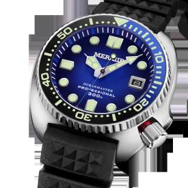 MERKUR OCEANMASTER 300M Homage Vintage Turtle Sapphire Ceramic Bezel Japan NH35 Automatic Diver Men's Watch Fine Quality Case Details
