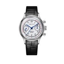 PIERRE PAULIN Enamel Dial Heat Blue Hands Doctor's Pulsation Mechanical Chronograph Complicated Men's Luxury Dress Handwind Watch