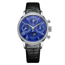 PIERRE PAULIN Mechanical Chronograph Moon Phase Calendar Complicated Men's Luxury Dress Handwind Watch
