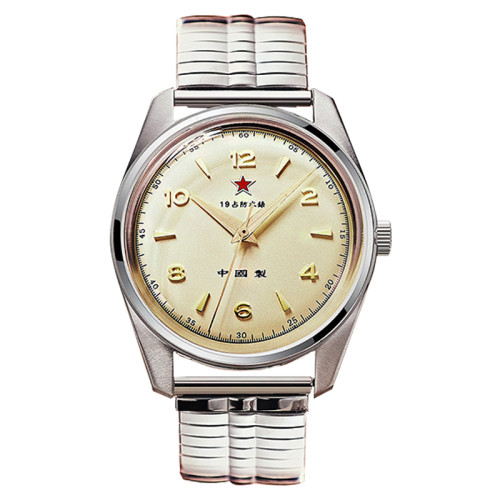 Red Army First Chinese Watch -The Wuxing Homage Handwinding Mechanical Retro Dress Watch Seagull 1963 Style  Mineral Glass Stainless Steel Band