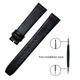 MERKUR Mens Ox Geunine Leather 18MM High Qualitty Calfskin Watchband Universal Watch Accessories