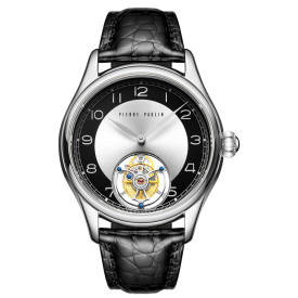 Vintage Style Flying Tourbillon PIERRE PAULIN Genuine Mechanical Dress Luxury Mens Watch Seagull Complicated Luxury