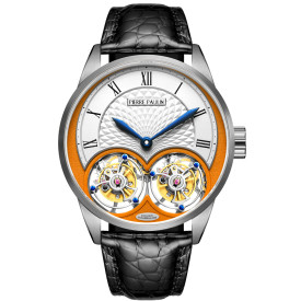 MERKUR genuine Double Tourbillon Manual Mechanical Watch Men's Luxury Formal Business Men's A Certified Millionaire Watch\