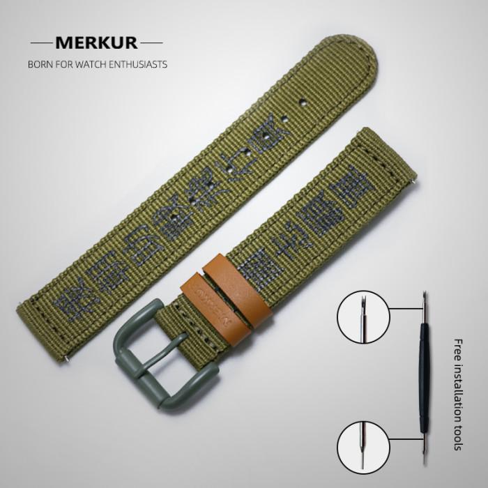 20MM Metal Stailess Steel Waterproof Skin-friendly  Retro  Watchband Watch Accessories curved endlink