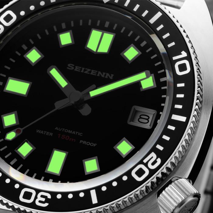 SEIZENN Diver Watch 200M Homage Of Vintage  Men's Automatic Japan Nh35 Sapphire Al Bezel MOD Watch