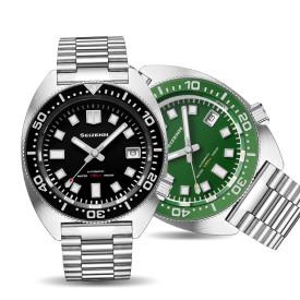 SEIZENN Diver Watch 200M Homage Of Vintage 6105-8000 Men's Automatic Japan Nh35 Sapphire Al Bezel MOD Watch