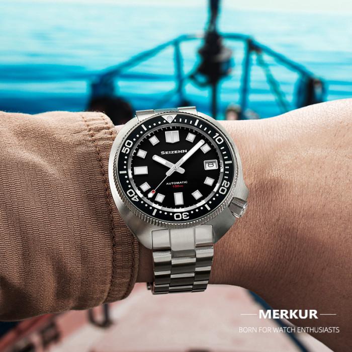 SEIZENN Diver Watch 150M Homage Of Vintage Men's Automatic Japan Nh35 Sapphire Captain Willard