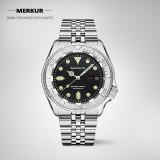 SEIZENN Automatic NH36 Mechanical Diving Watch 200M SKX007 Men's All Steel bracelet Swiss Luminous