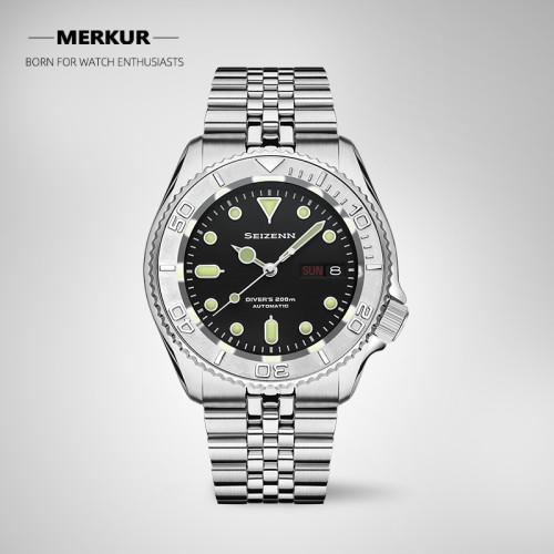 SEIZENN Automatic NH36 Mechanical Diving Watch 200M Men's All Steel bracelet Swiss Luminous