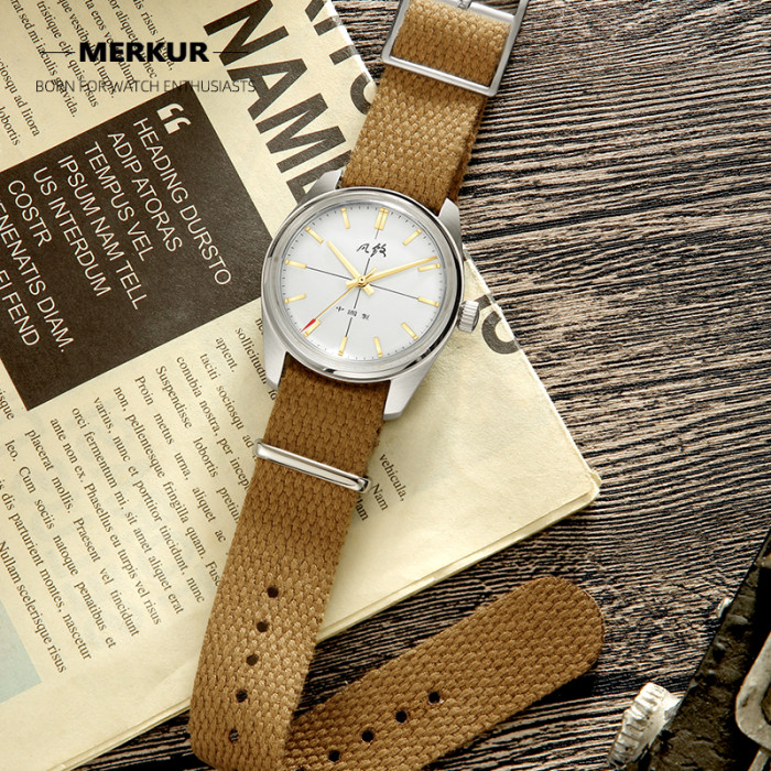 Vintage Chinese Style 70S CLASSIC CROSS LINE DIAL Original Design handwind mechanical watch Gold and Silver Dial