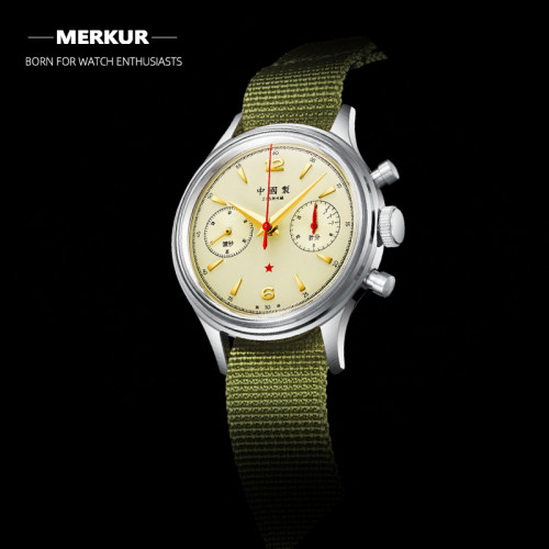 Red Army Fliger PILOT Mechanical Chronograph Mens Watch Aviation Watch Homage of China Air Force First Pilot Watch Seagull 1963