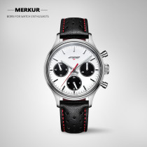 FOD Mechanical Handwind Luminous Waterproof 30M Manual Panda 24Hours Men's Luxury Dress Handwind Watch