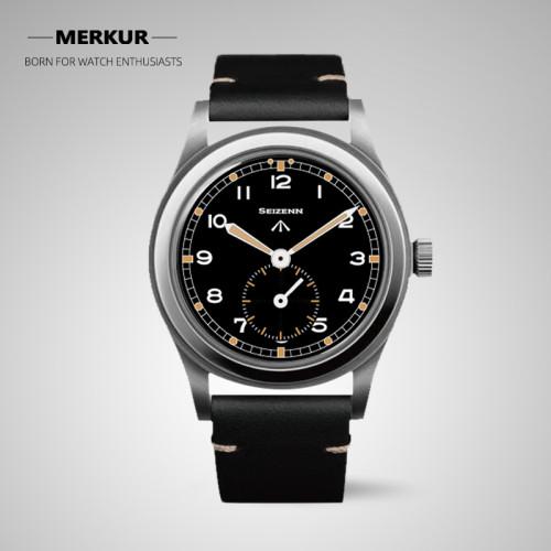 Chinese Original broad arrow Seizenn watch male  Mens WWII 12 mechanical watch manual hand wind  luminous stain steel