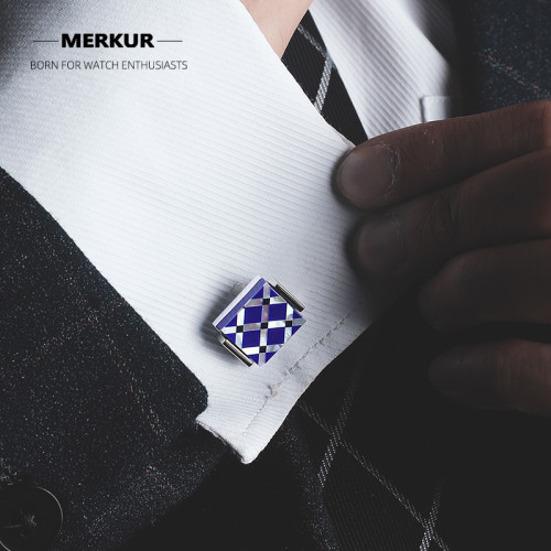 Chinese original MERKUR French cufflinks natural light Tigea eyes luxury stainless steel gift box