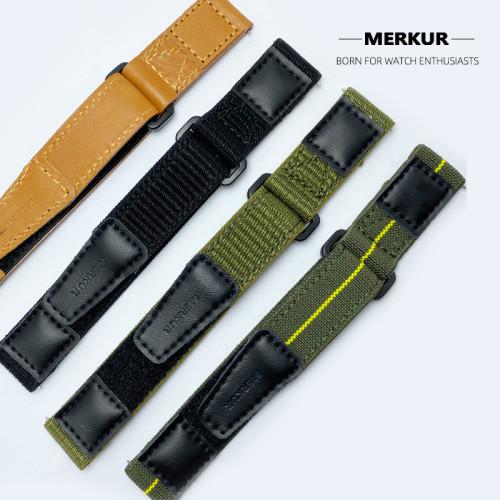 Chinese original MERKUR fashion retro velcro four-color canvas men's strap accessories
