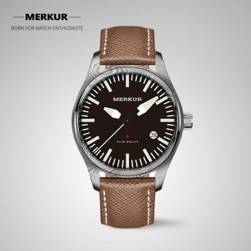 Chinese Original Merkur Damascus Steel Diving pilot Mechanical Diving Watch Sapphire