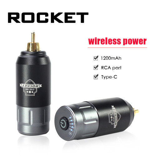 New Rechargeable Wireless Rocket Type-C Tattoo Battery Power Supply