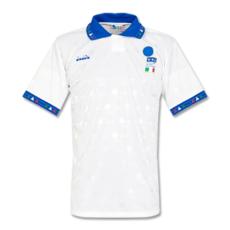 1994 Italy Away White Retro Soccer Jersey