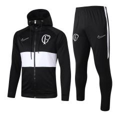 Corinthians Black Hoody Zipper Jacket Tracksuit 19/20