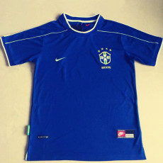 1998 Brazil Away Retro Soccer Jersey