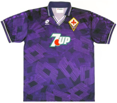 1992-1993  Fiorentina Home Purple Retro Soccer Jersey