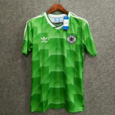 1988-1990 Germany Away Green Retro Soccer Jersey