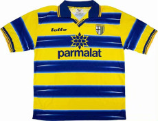 1998-1999 Parma Homen Yellow And Blue Retro Soccer Jersey