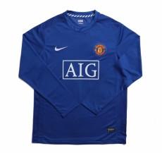2008 Man Utd Away Long Sleeve Retro Soccer Jersey
