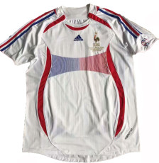 2006-2007 France Away White Retro Soccer Jersey