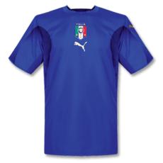 2006 Italy Home Blue Retro Soccer Jersey