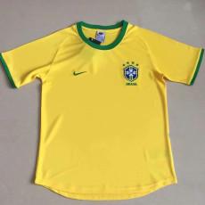 2000  Brazil Home Yellow Retro Soccer Jersey