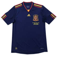 2010  Spain Away Royal Blue Retro Soccer Jersey(带胸前决赛字)