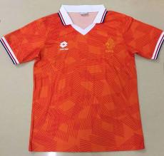 1991-1992 Netherlands Home Retro Soccer Jersey