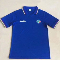 1986 Italy Home Blue Retro Soccer Jersey
