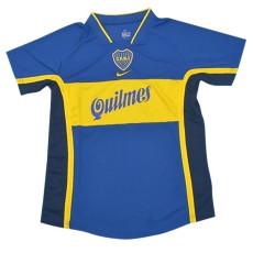 2001 Boca Juniors Home Retro Soccer Jersey