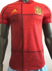 2020 Spain Home Player Version Soccer Jersey
