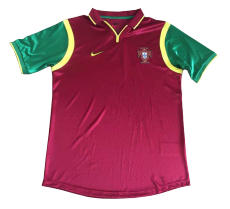 1998 World Cup Portugal Home Retro Soccer Jersey