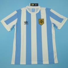 1978 Argentina Home Retro Soccer Jersey