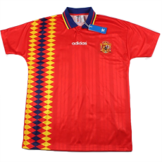 1994 Spain Home Red Retro Soccer Jersey