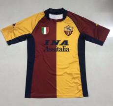 2001-2002 Roma Home Retro Soccer Jersey