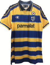 1999-2000 Parma Away Yellow Retro Soccer Jersey