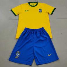 20-21 Brazil Home Kids Soccer Jersey
