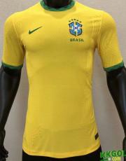 2020 Brazil Home Player Version Soccer Jersey